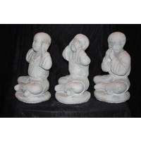 thumb-Set horen, zien en zwijgen Boeddha's-3
