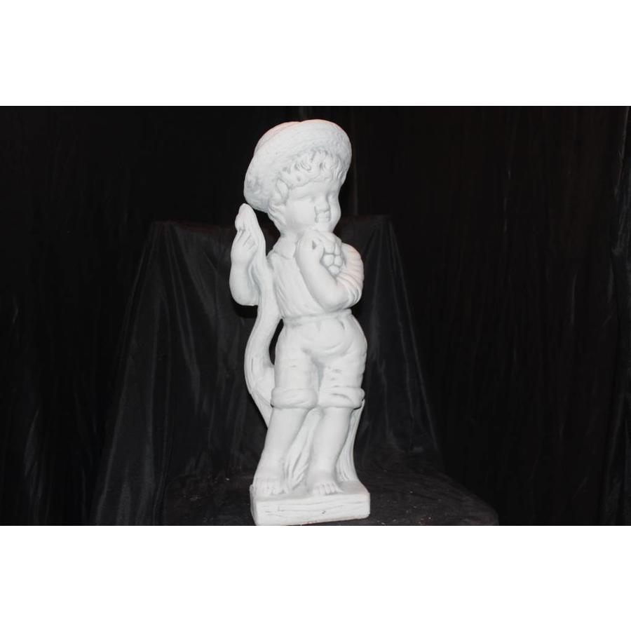 jongetje staand met hoedje ( H 48 cm)