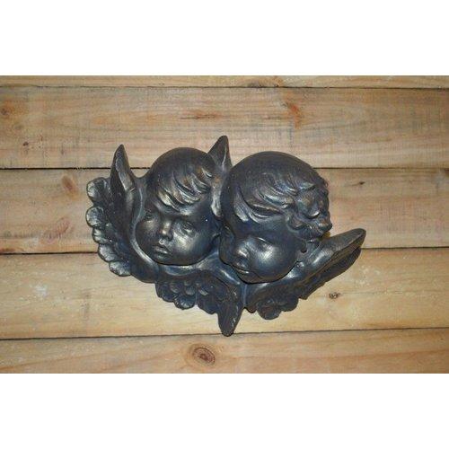 Engelen aan de wand ( H 23 cm)