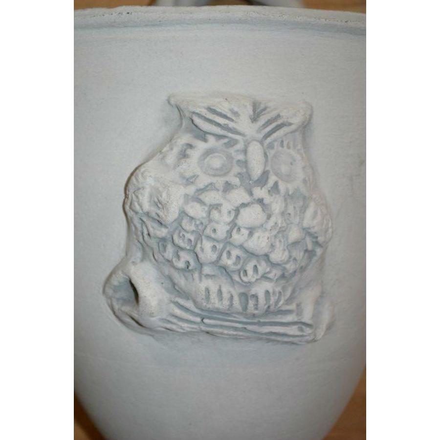 Bloembakje met uiltje ( H 34 cm)