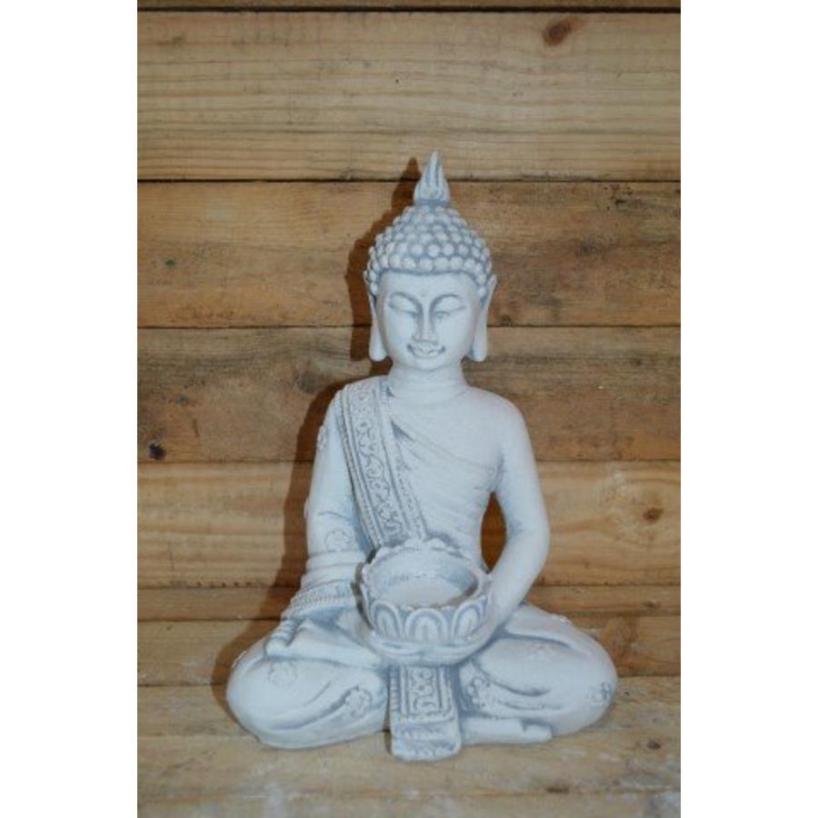 Boeddha met theelichtje ( H 31 cm)