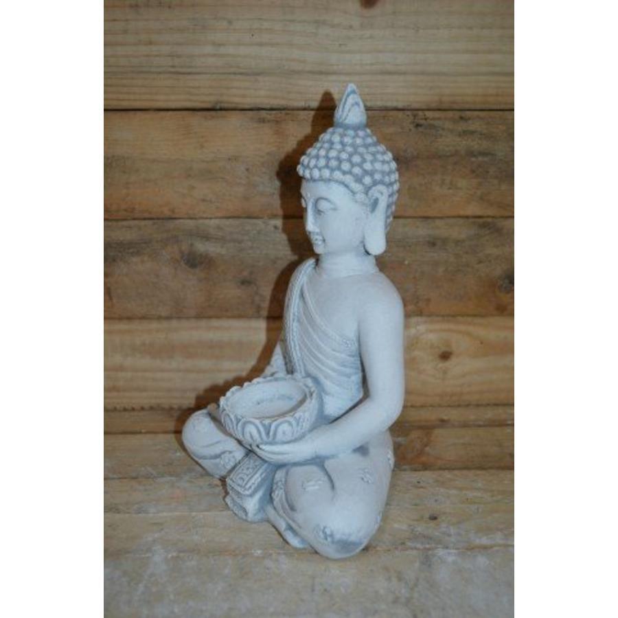Boeddha met theelichtje ( H 31 cm)-2