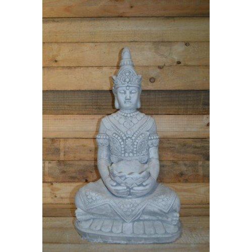 Boeddha met een schaaltje ( H 64 cm)