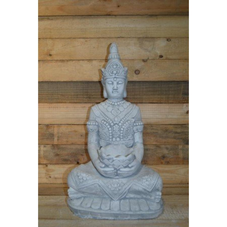 Boeddha met een schaaltje ( H 64 cm)-1