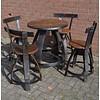 Meulenveld Upcycling Bistro tafeltje met 4 stoelen