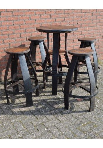 Bistro sta tafel met 4 krukken