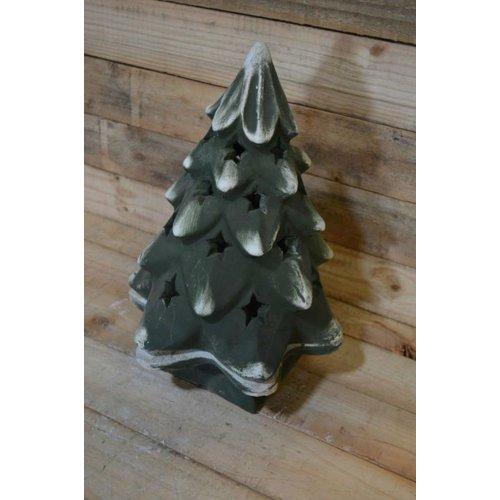 kerstboom geschikt voor verlichting ( H 40 cm)
