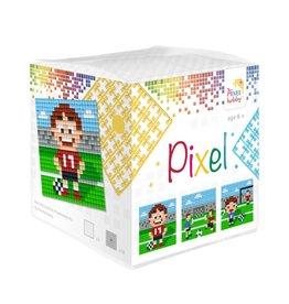 Pixel Hobby Pixel kubus - Voetbal