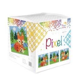 Pixel Hobby Pixel kubus - Vosjes