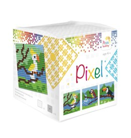 Pixel Hobby Pixel kubus - Tropische vogels
