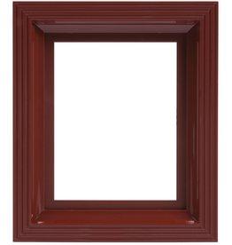 Pixel Hobby Kunststof lijst voor 1 basisplaat (rood-bruin)
