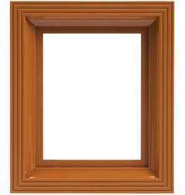 Pixel Hobby Kunststof lijst voor 1 basisplaat (oker-bruin)