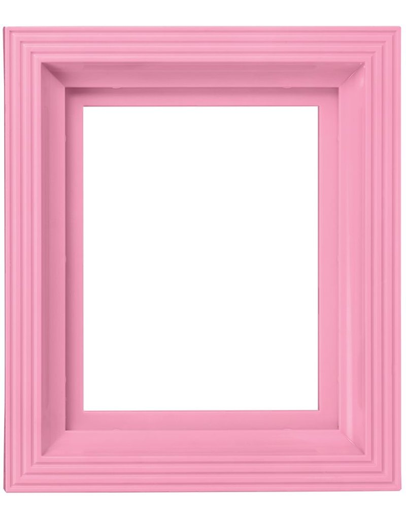 Pixel Hobby Kunststof lijst voor 1 basisplaat (baby roze)