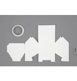 Huis, afm 8x6,5x7,5 cm, 230 gr, 8 stuks, wit