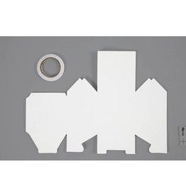 Huis, afm 8x6,5x11,5 cm, 230 gr, 8 stuks, wit