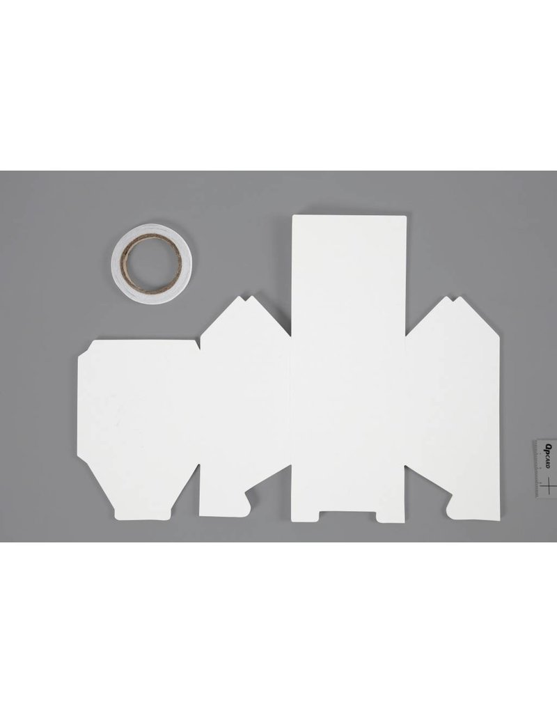 Huis, afm 8x6,5x11,5 cm, 230 gr, 8 stuks, wit, per stuk