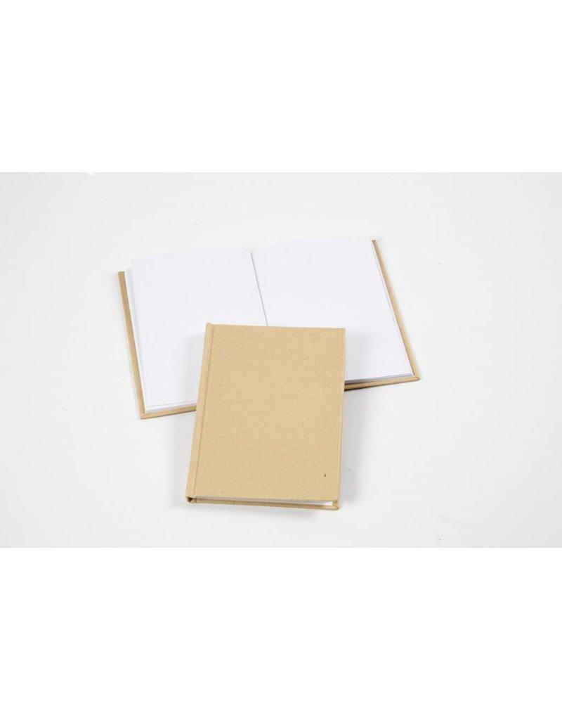 Notitieboek, A6 10,5x15 cm, dikte 8 mm, 1 stuk, bruin