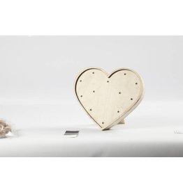 Licht box - hart,h: 21 cm, b: 23,5 cm, 1 stuk, triplex