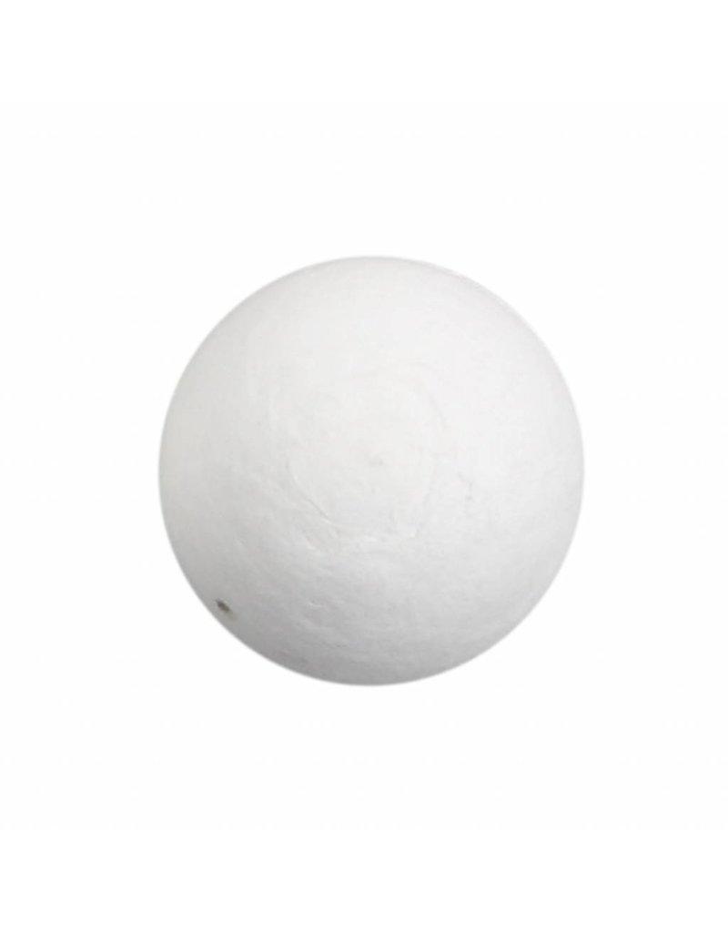 Katoenballen, d: 30 mm, wit, per stuk