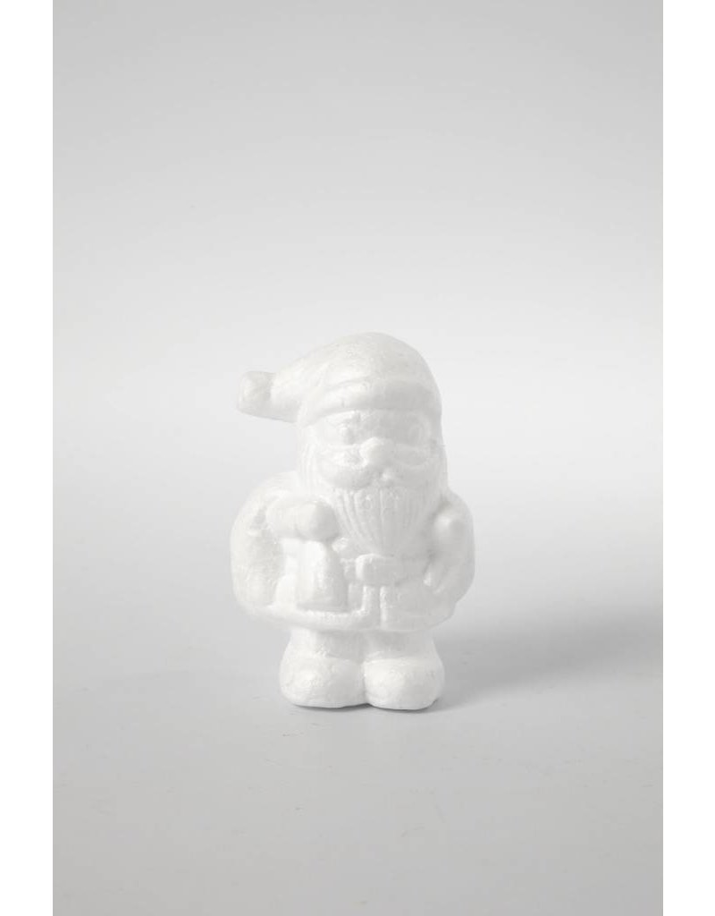 Kerstman, h: 11 cm, 1 stuk, wit