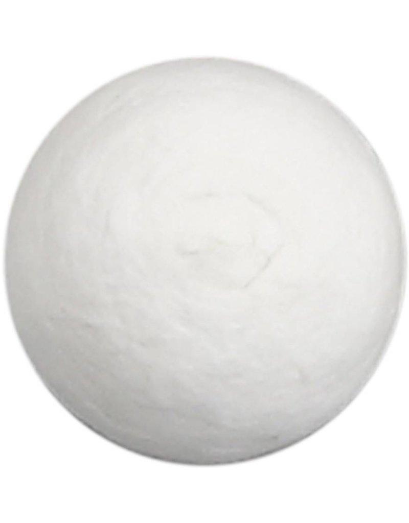 Katoenballen, d: 20 mm, wit, per stuk