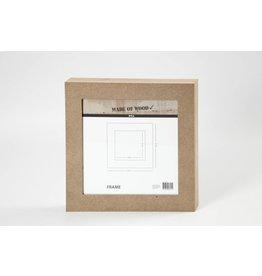Fotolijst, afm 30,5x30,5 cm, uitsnede: 22,5x22,5 cm, 1 stuk, MDF