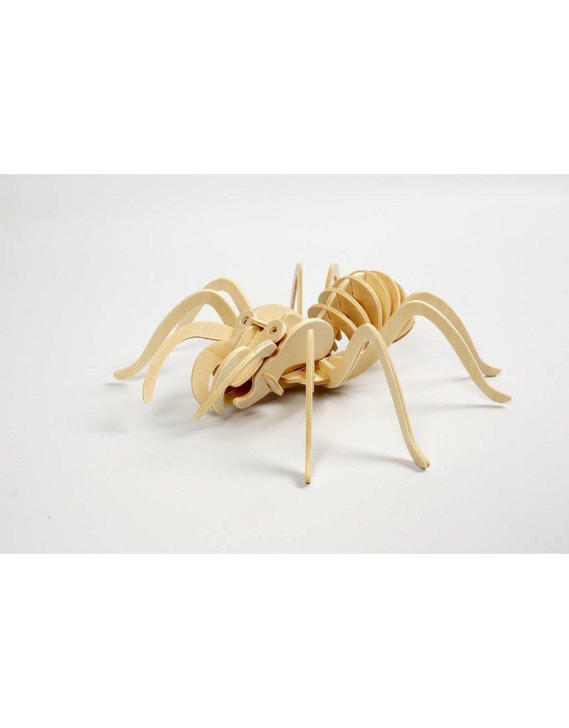 3D Puzzel, spin  lxbxh 19x22x6,5 cm, 1 stuk, triplex