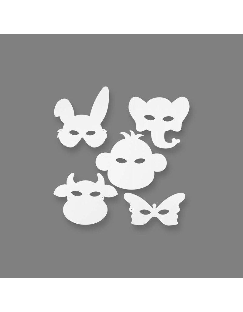 Dierenmaskers, h: 13-24 cm, b: 20-28 cm, 16 stuks
