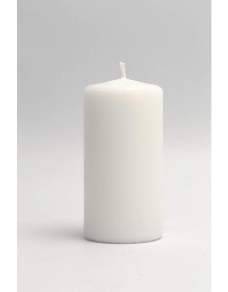 Kaarsen, d: 50 mm, h: 10 cm, 6 stuks, wit