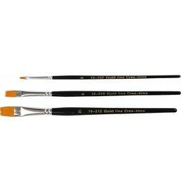 Gold Line penselen, 2+8+12, b: 3+9+12 mm, 3 div