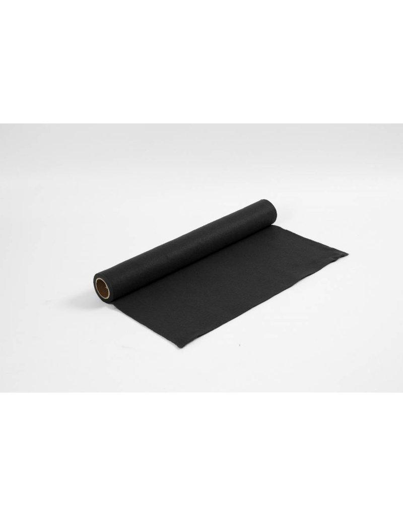 Hobbyvilt, b: 45 cm, dikte 1,5 mm, 1 m, zwart