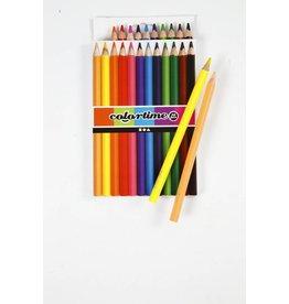 Colortime kleurpotloden, vulling: 5 mm, 12 stuks, kleuren assorti