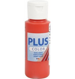 Plus Color acrylverf, 60 ml, brilliant red