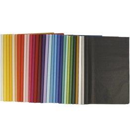 Tissuepapier, vel 50x70 cm, 14 gr, kleuren assorti, per stuk