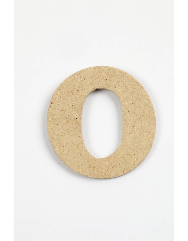 Letter O, h: 4 cm, dikte 2,5 mm, MDF, per stuk