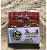 Sleutelhangers 2x Smiley's - Pixel Classic