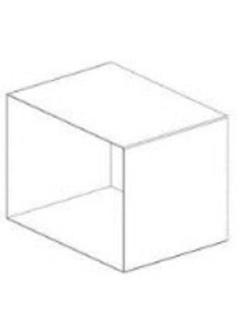 NL stock DISPLAY CUBE,WHITE,METAL