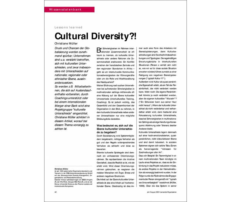 Cultural Diversity?!