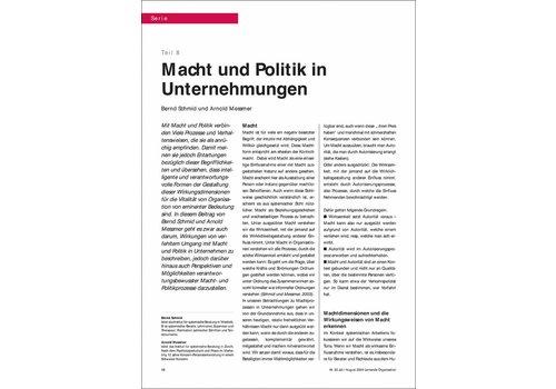 Macht und Politik in Unternehmungen