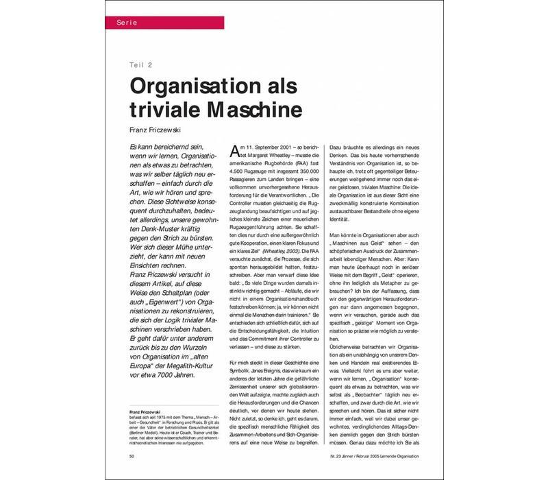Organisation als triviale Maschine