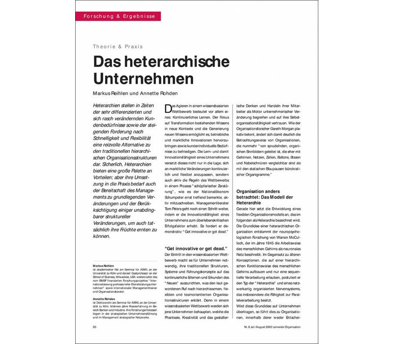 Das heterarchische Unternehmen