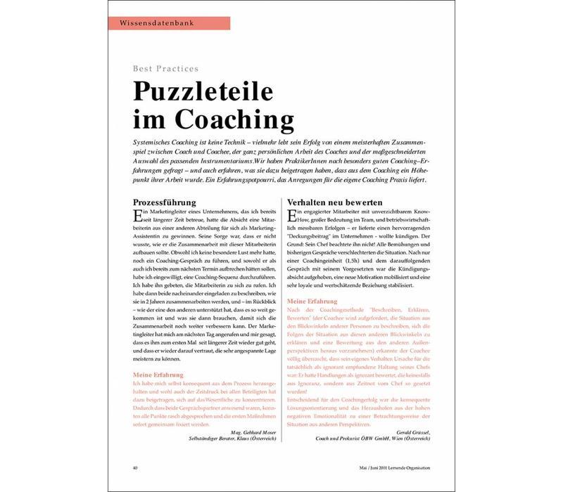 Puzzleteile im Coaching