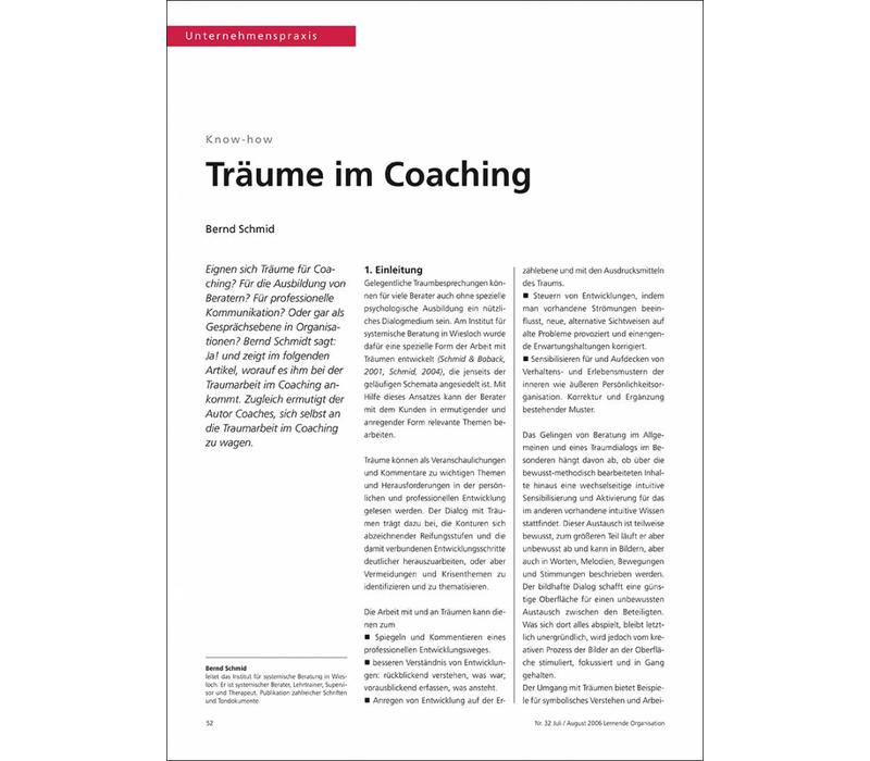 Träume im Coaching