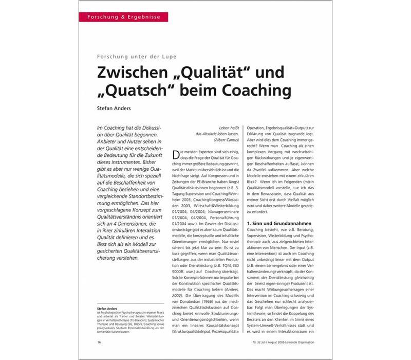 """Zwischen """"Qualität"""" und """"Quatsch"""" beim Coaching"""