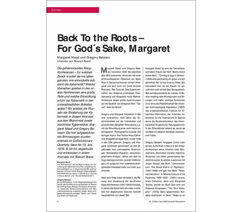 Back To the Roots – For God´s Sake, Margaret