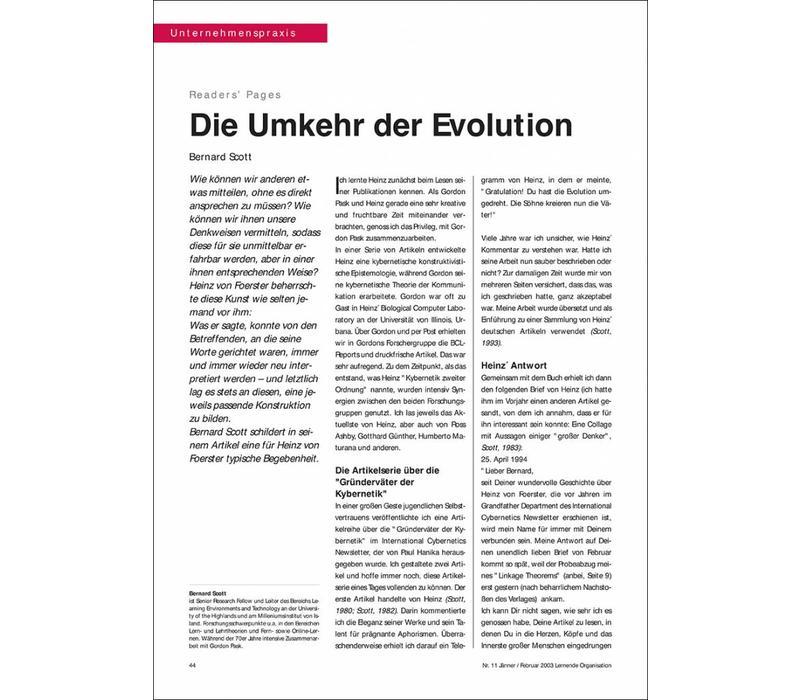 Die Umkehr der Evolution