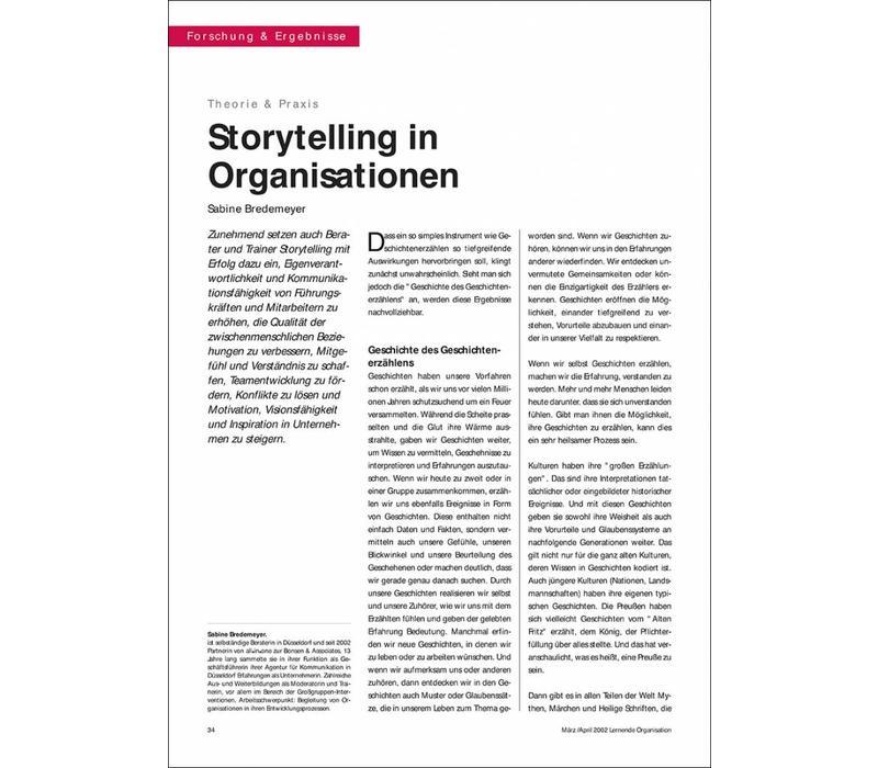 Storytelling in Organisationen