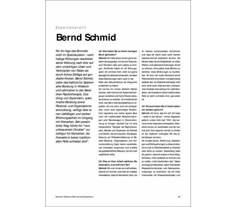 Expertenprofil: Bernd Schmid