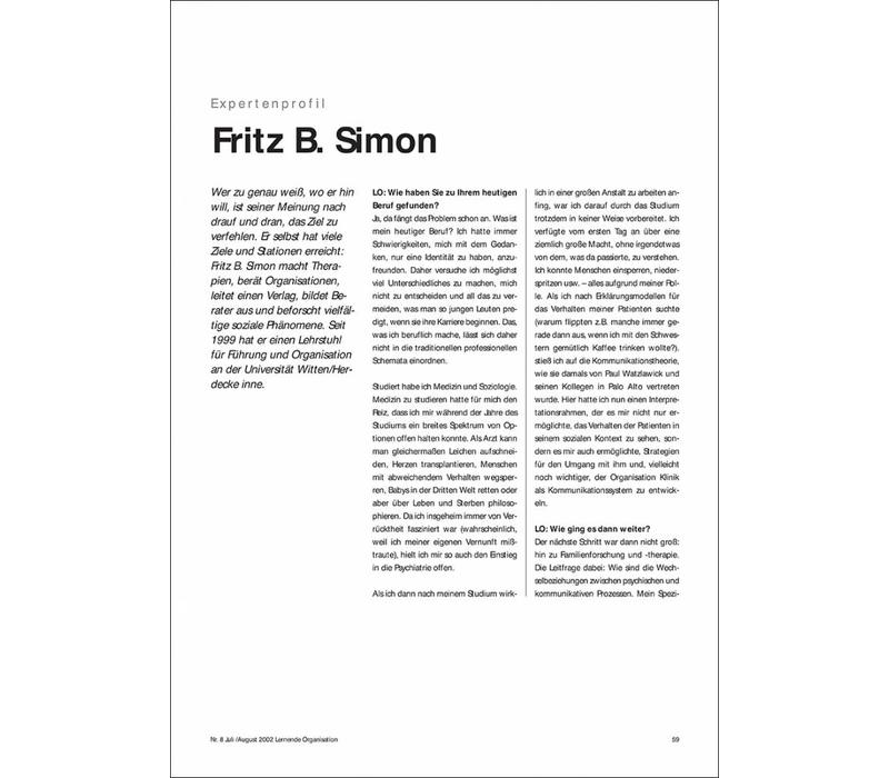 Expertenprofil: Fritz B. Simon