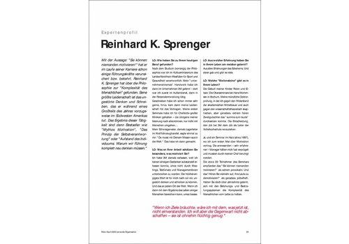 Expertenprofil: Reinhard K. Sprenger
